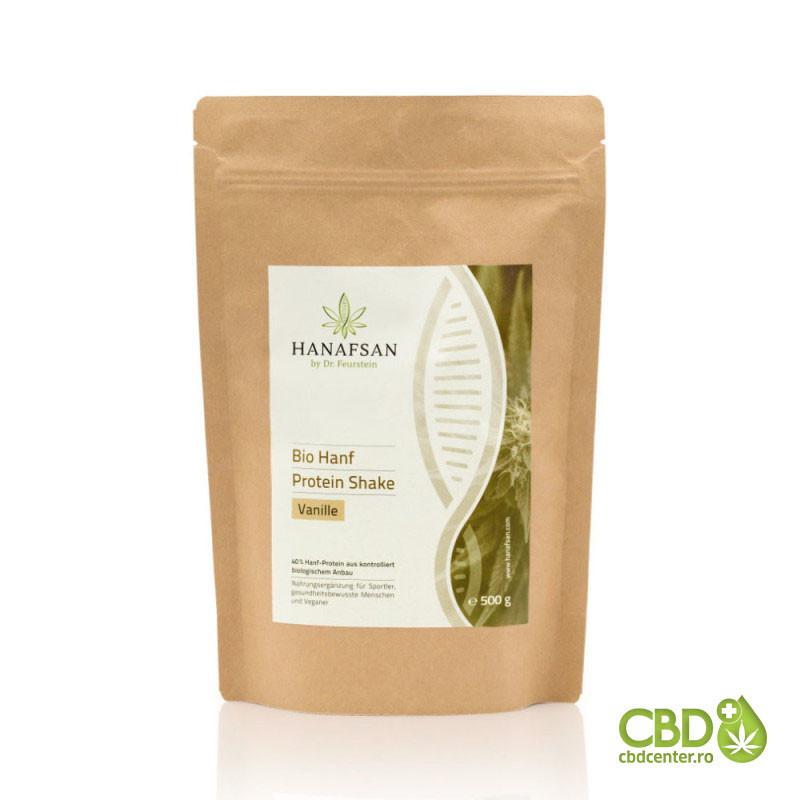Shake proteic - vanilie din cânepă organic - 500 g